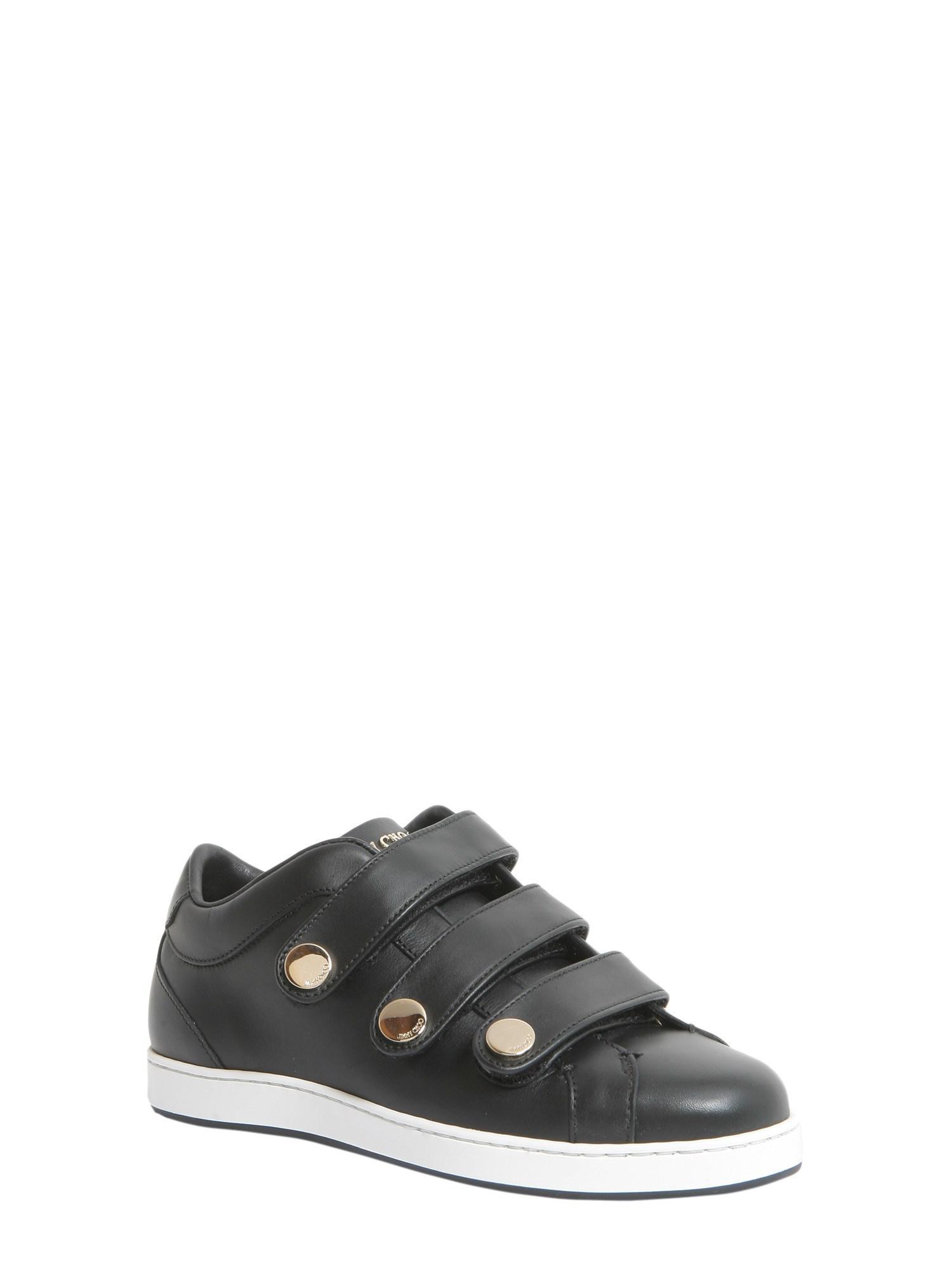 Jimmy Choo New York Leather Sneakers in Black