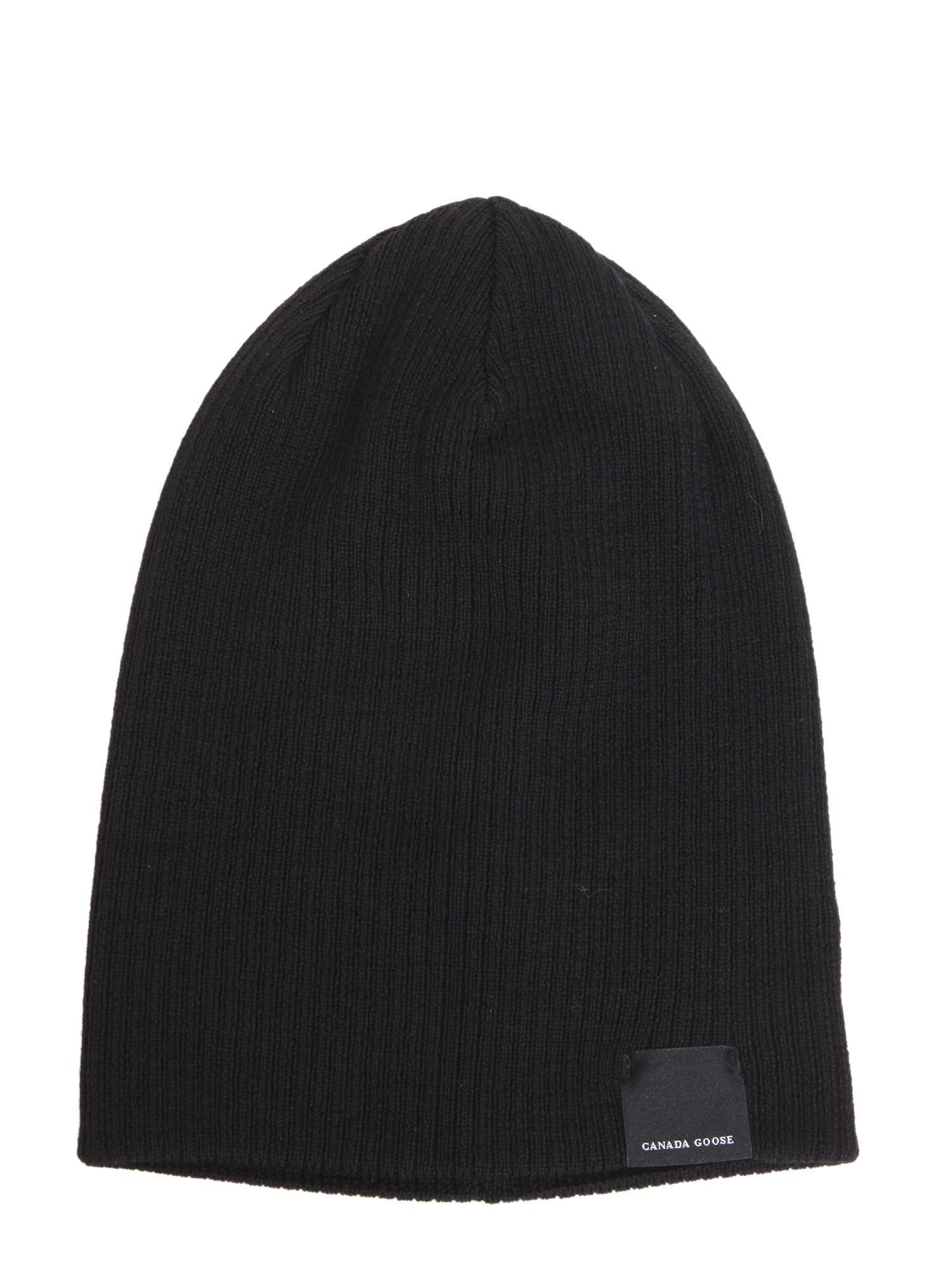 a61741df320 Canada Goose - Black Cappello Reversibile In Lana Merino for Men - Lyst.  View fullscreen