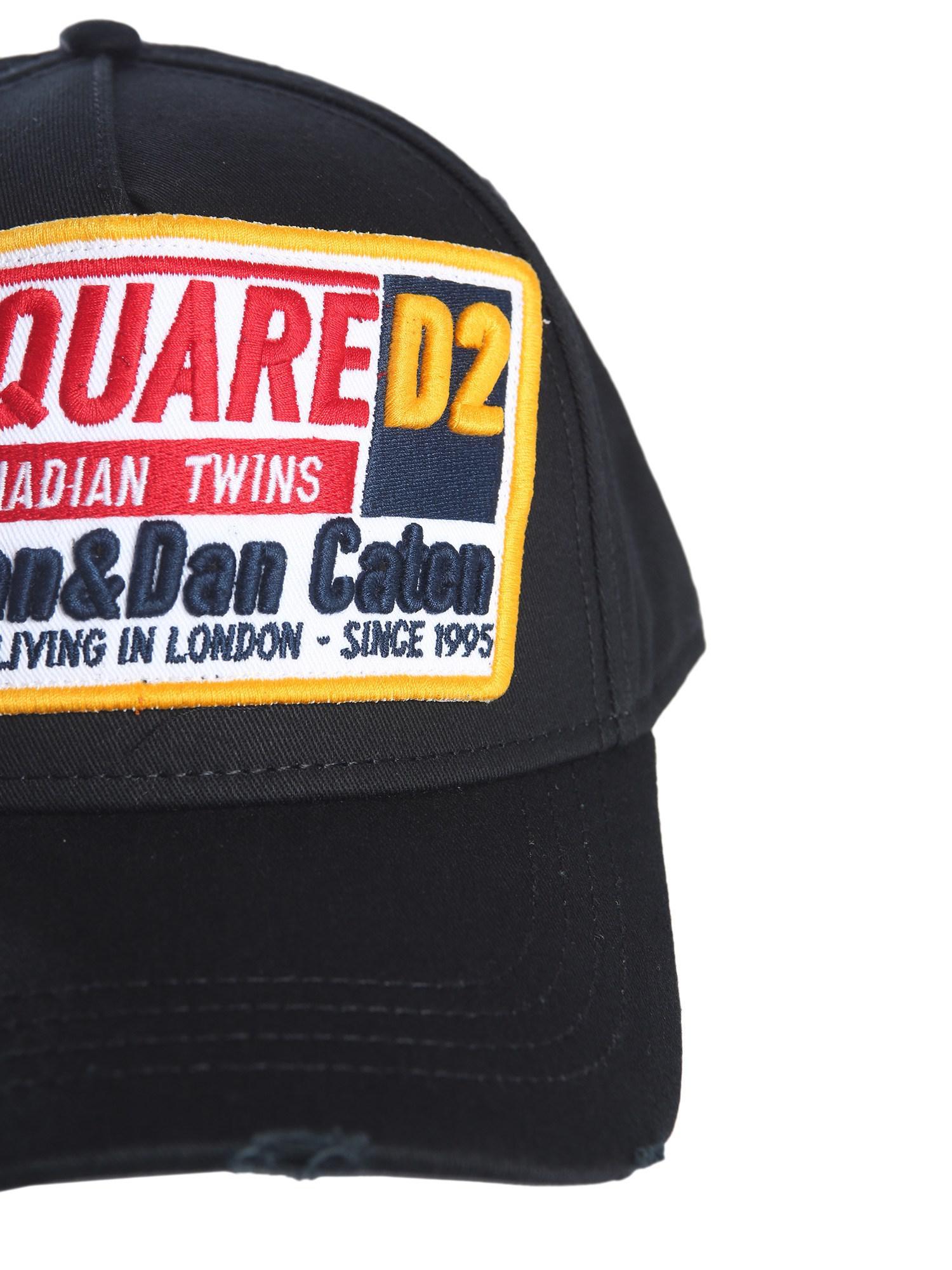 Dsquared² Cappello Da Baseball In Cotone in Black for Men - Lyst 523861087452