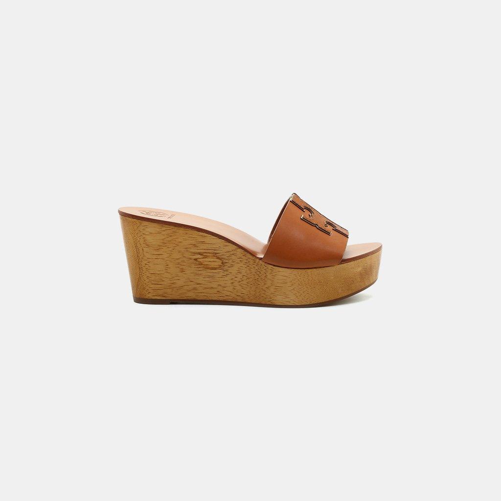 c17ba3b59 Lyst - Tory Burch Ines Wedge Sandal in Brown