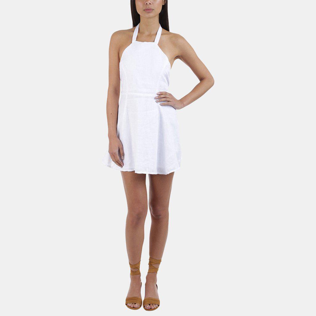 Sir. The Label Jasmin Linen Halter Dress In White