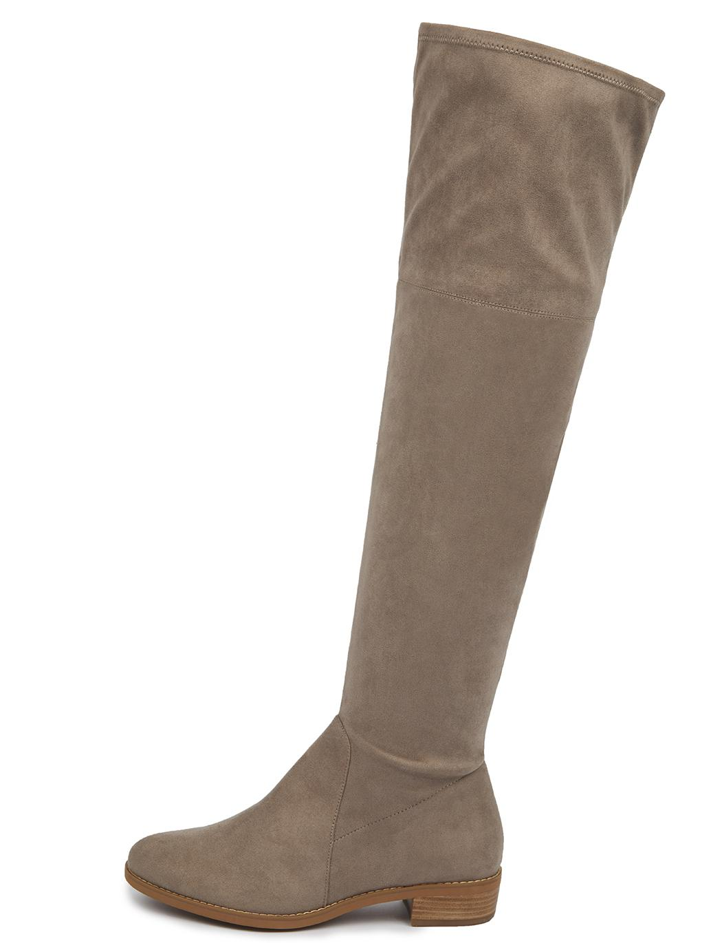 e6aee3590b9526 Lyst - Eloquii Fifi Flat Over The Knee Boot in Brown