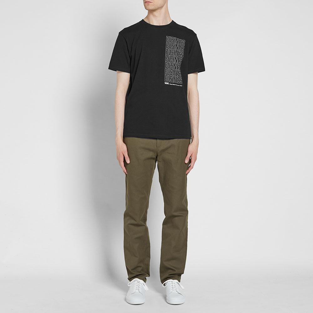 WOOD WOOD Cotton Business Tee in Black for Men