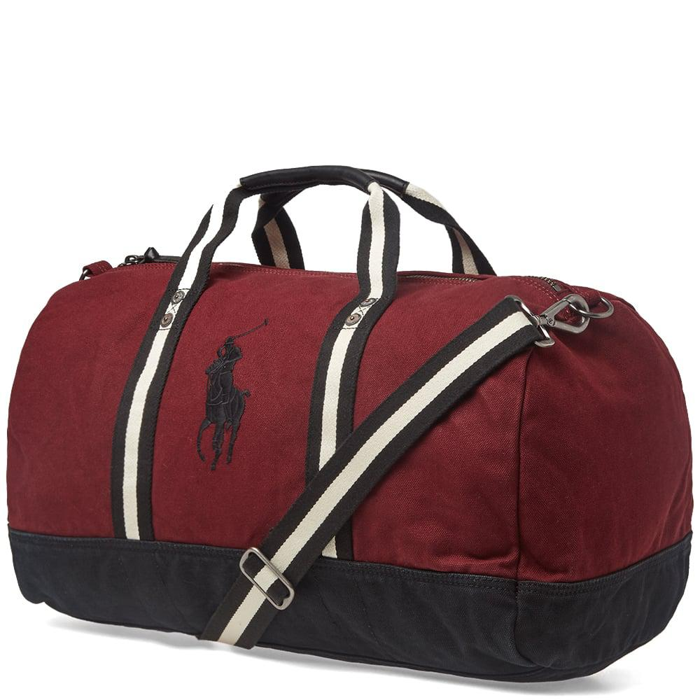 edca9a946f Polo Ralph Lauren - Red Canvas Polo Player Logo Duffle Bag for Men - Lyst.  View fullscreen