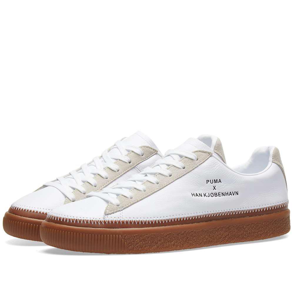 sports shoes c9ad7 78aee Men's White X Han Kjobenhavn Clyde Stitched