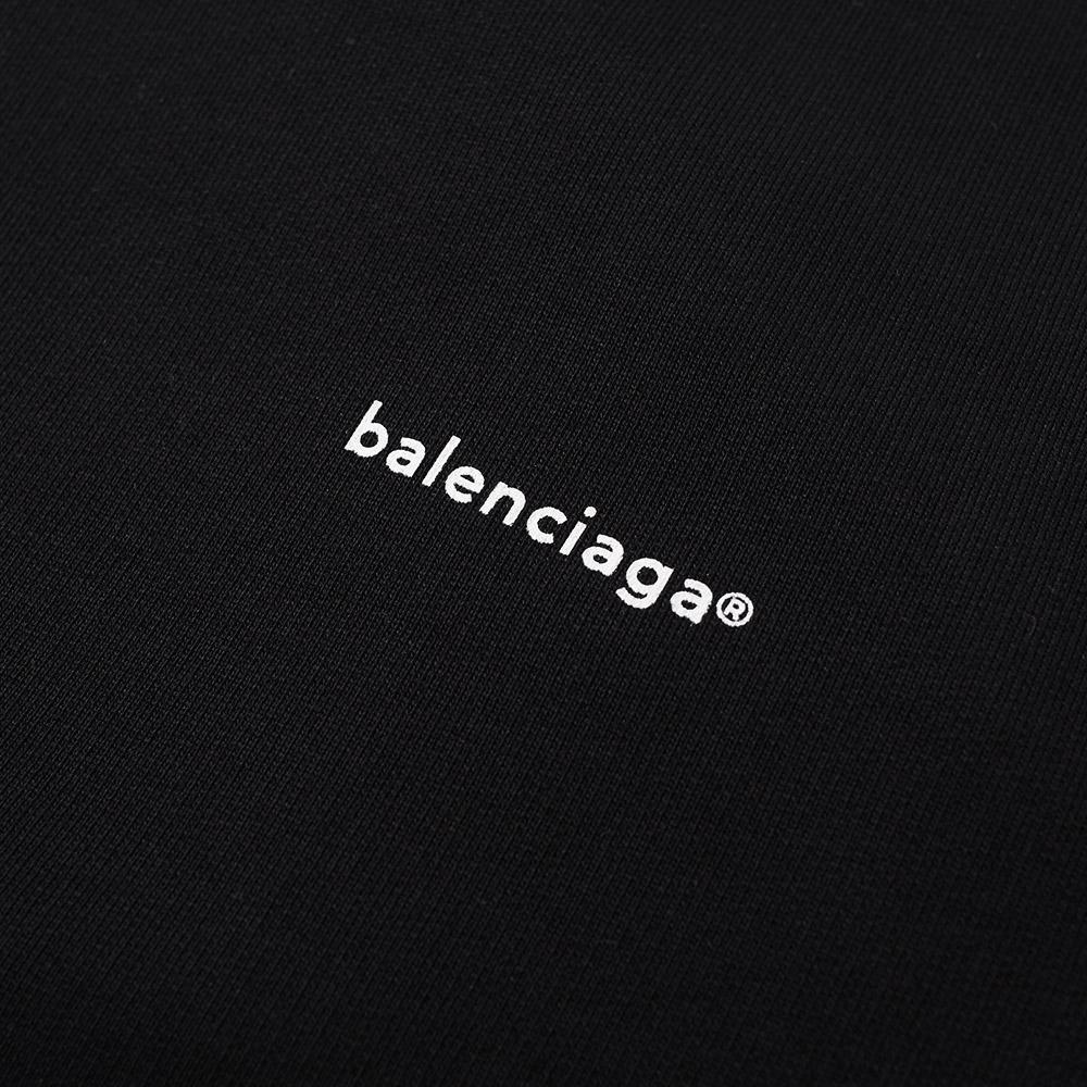 Balenciaga Copywrite Logo Crew Sweat in Black for Men