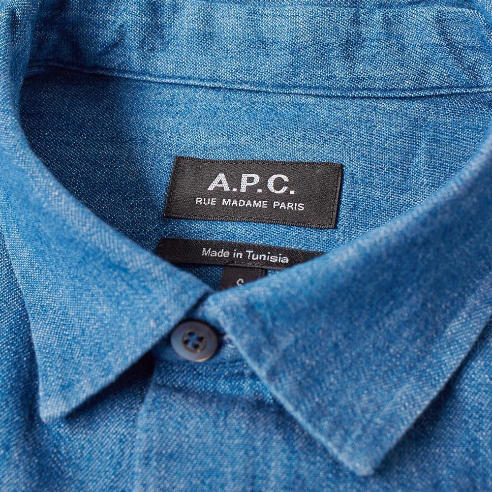 A.P.C. Cotton Benny Shirt in Blue for Men
