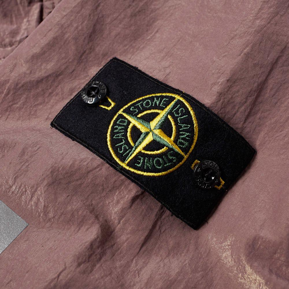 Stone Island Cotton Reflective Sleeve Metal Gd Shirt Jacket in Pink for Men