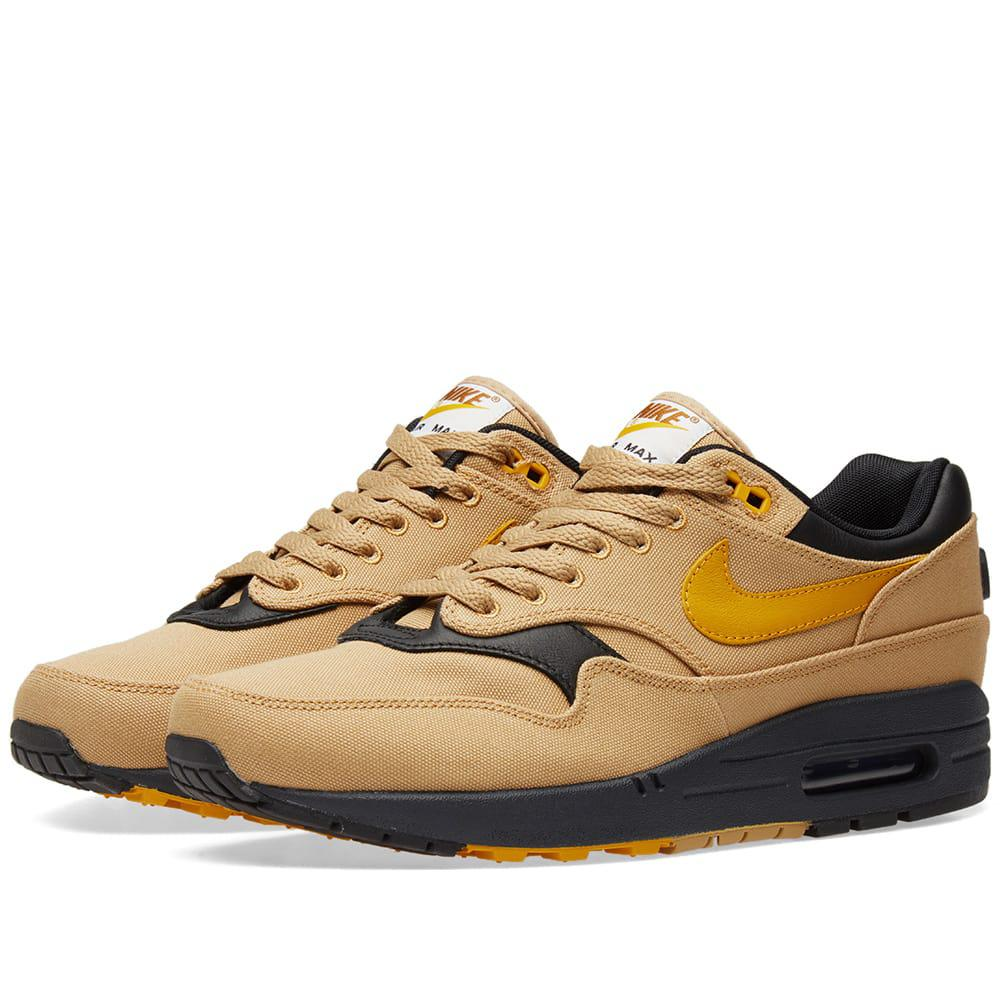 lyst nike air max 1 premium in yellow for men. Black Bedroom Furniture Sets. Home Design Ideas