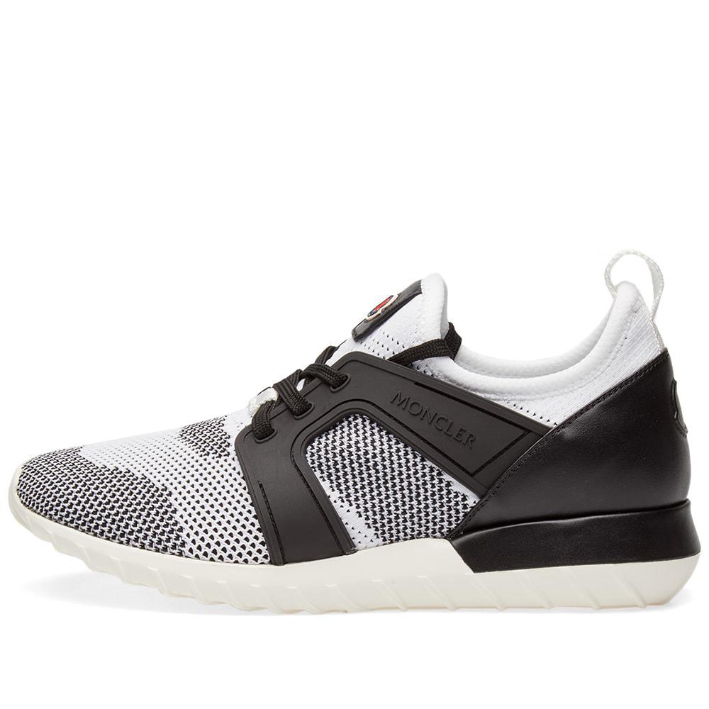 5adb4f0b8 Moncler Emilien Knitted Mix Sneaker in White for Men - Lyst
