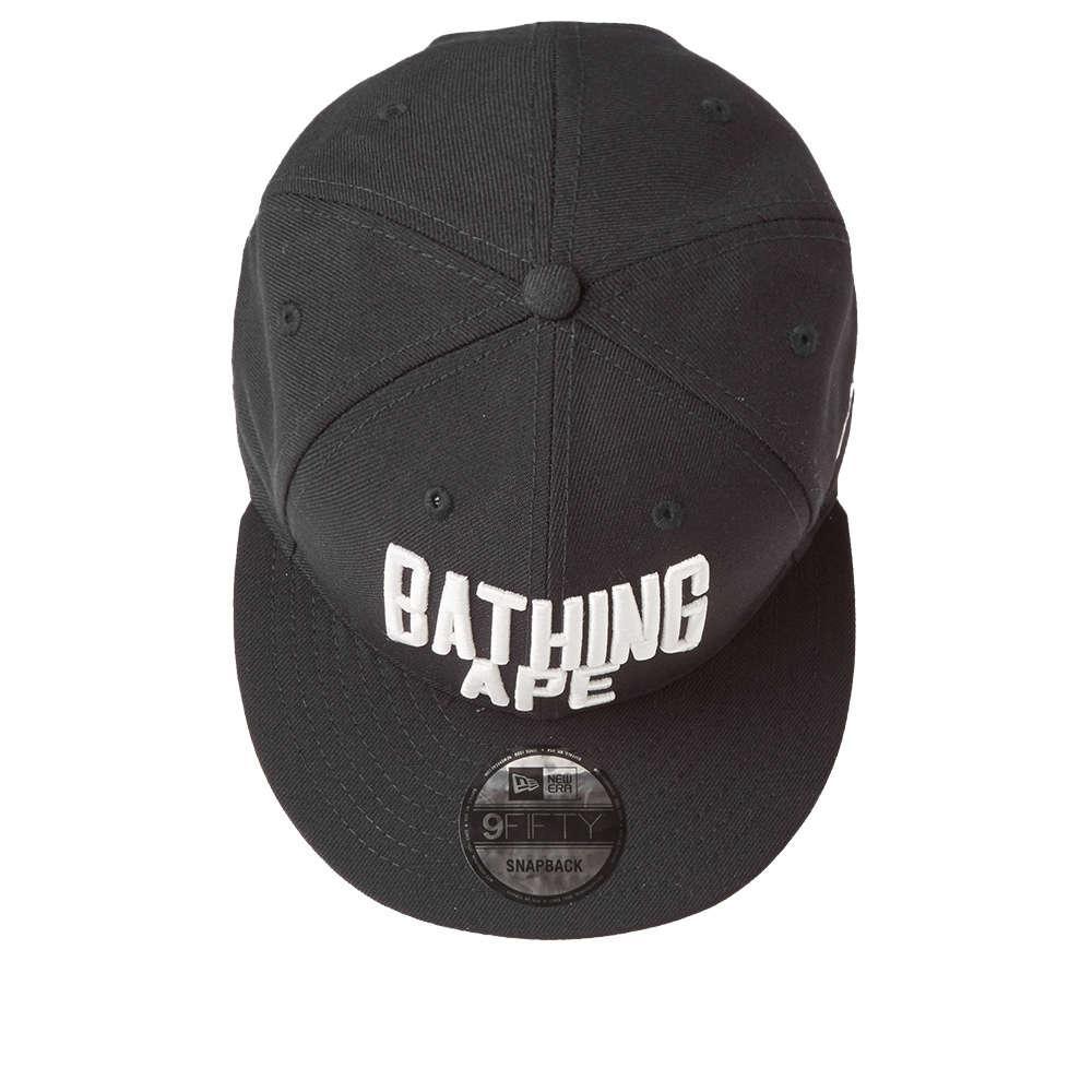 5d0f4f3d808 Lyst - A Bathing Ape New Era Nyc Logo Snapback Cap in Black for Men