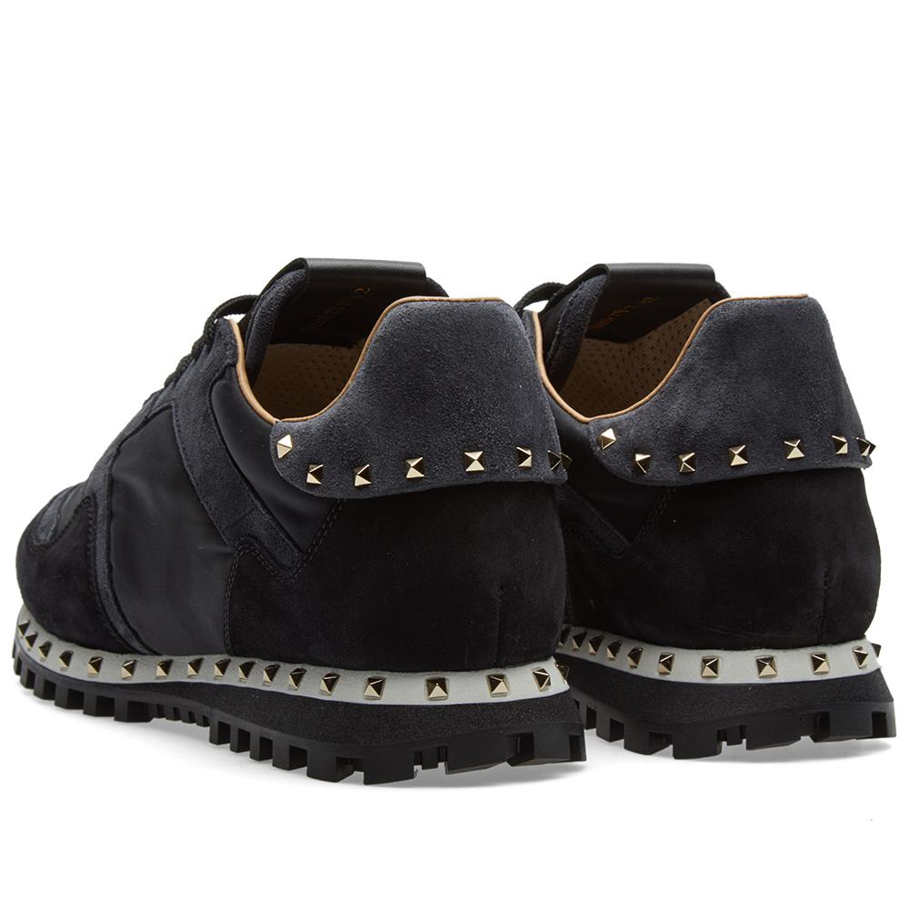Stud Sole Rockrunner Sneaker in Black