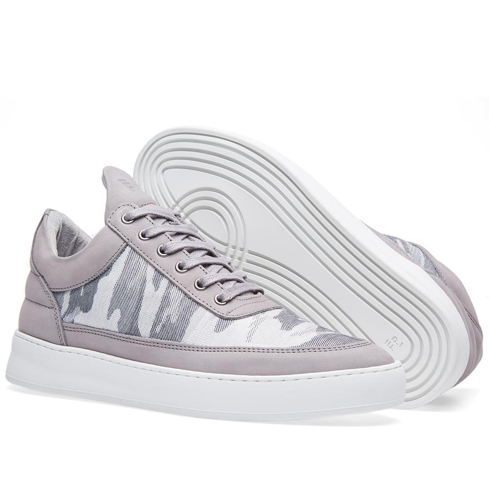 Filling Pieces Leather Low Top Sneaker in Grey (Grey)