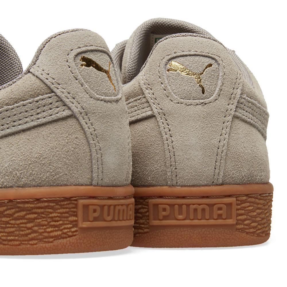 PUMA Suede Classic Gum Sole in Grey