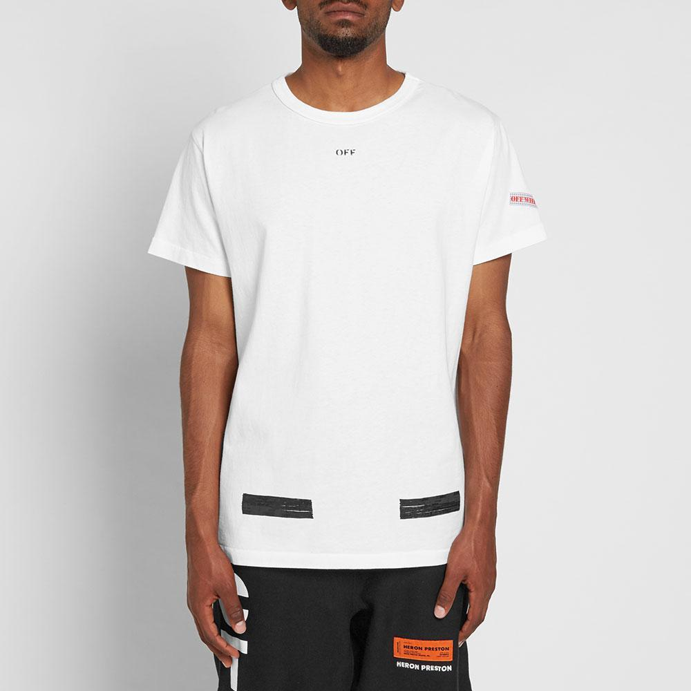 Lyst off white c o virgil abloh brushed tee in white for men for Off white virgil abloh