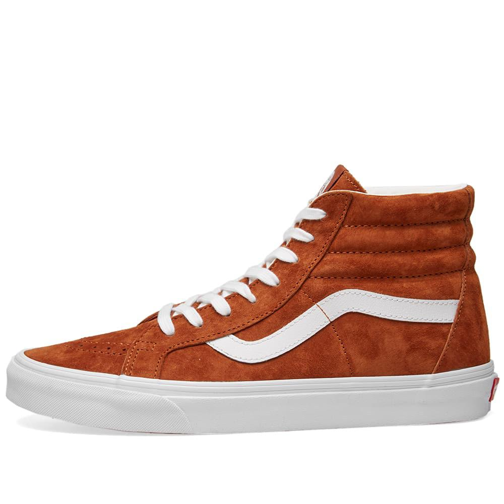 b9e87eb861 Lyst - Vans Suede Sk8-hi Reissue Trainers Leather Brown true White ...