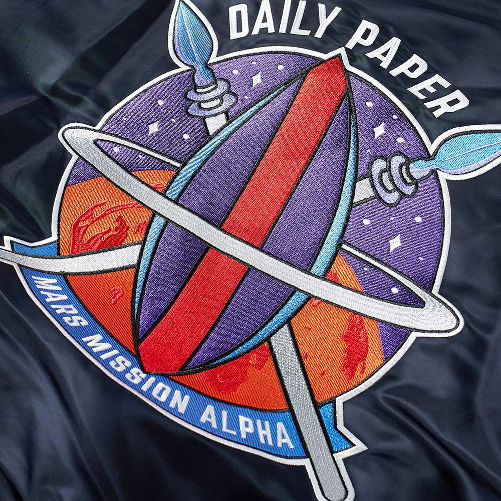 84d82717d Alpha Industries X Daily Paper Ma-1 'zambian Space Program' Jacket ...