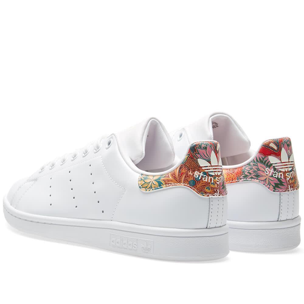 promo code ef0ed 06744 Adidas White Women's Stan Smith Floral W