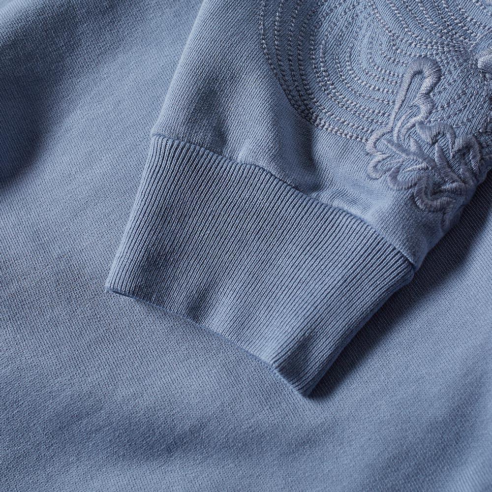 Dries Van Noten Cotton Huskins Embroidered Sleeve Sweat in Blue for Men