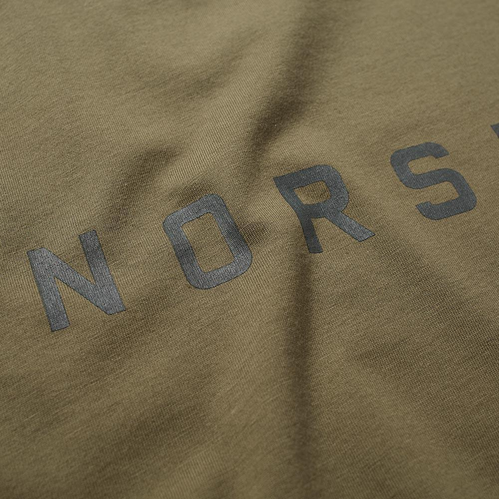 Norse Projects Cotton Niels Logo Tee in Green for Men