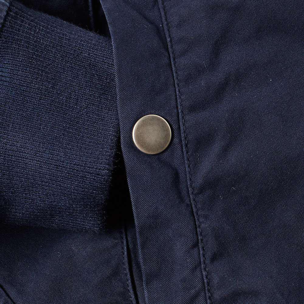 OLAF HUSSEIN Denim Ma-1 Bomber Jacket in Blue for Men