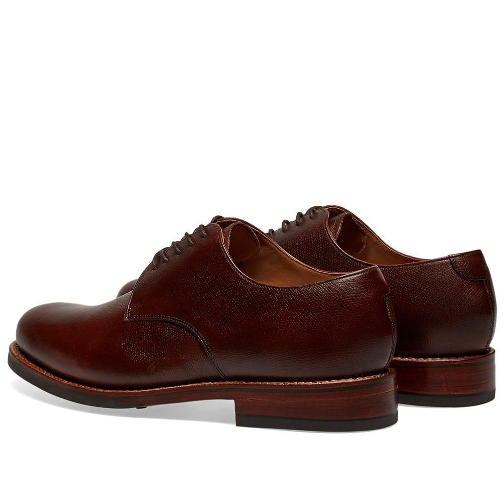c14788f788b Grenson Leather Curt Dainite Sole Derby Shoe in Brown for Men - Lyst