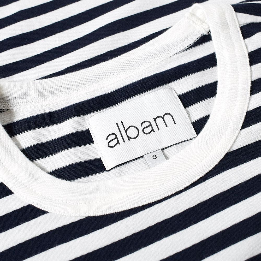 Albam Cotton Stripe Tee in Blue for Men