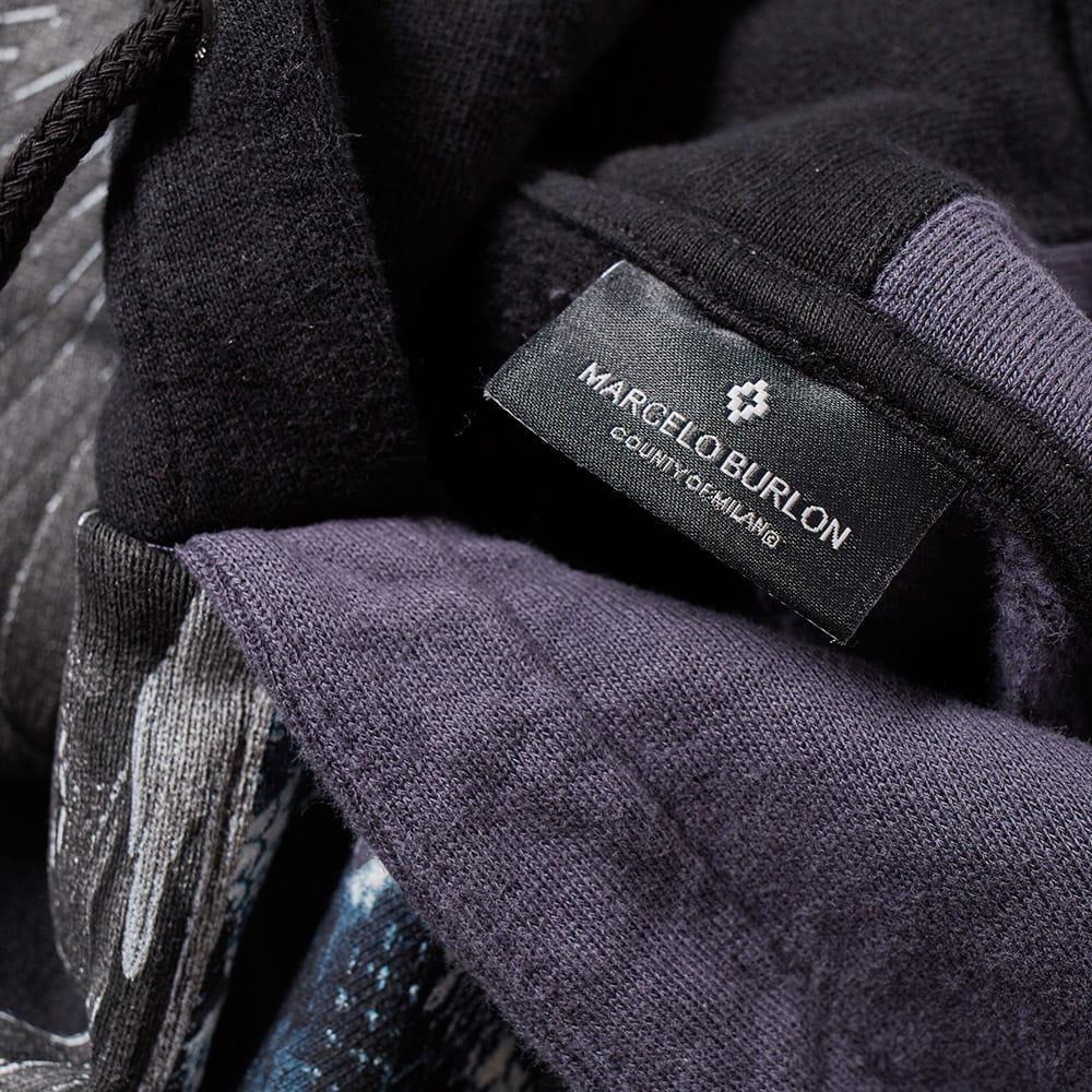 Marcelo Burlon Cotton Wings Snakes Split Hoody in Black for Men