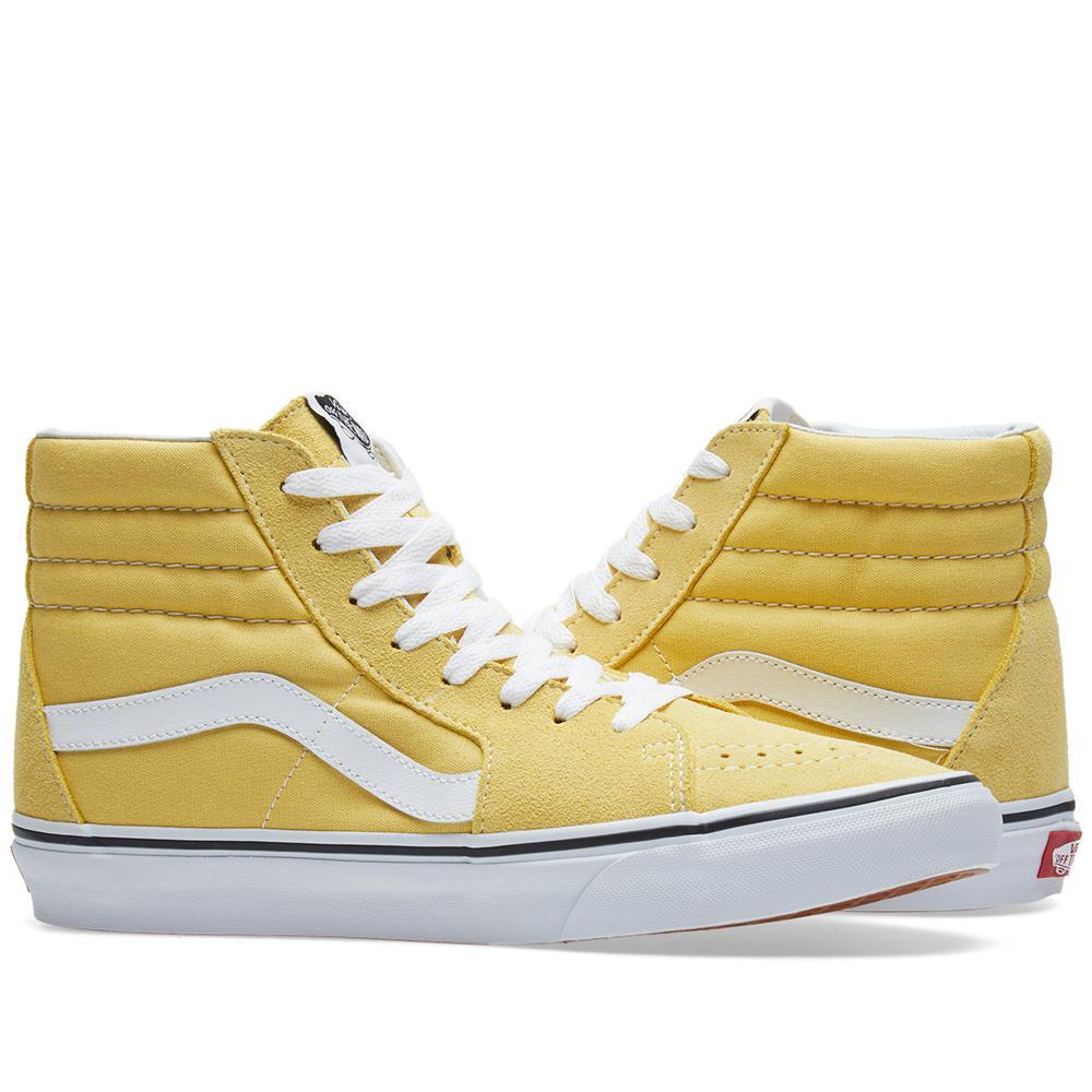 Vans Suede Sk8-hi in Yellow for Men