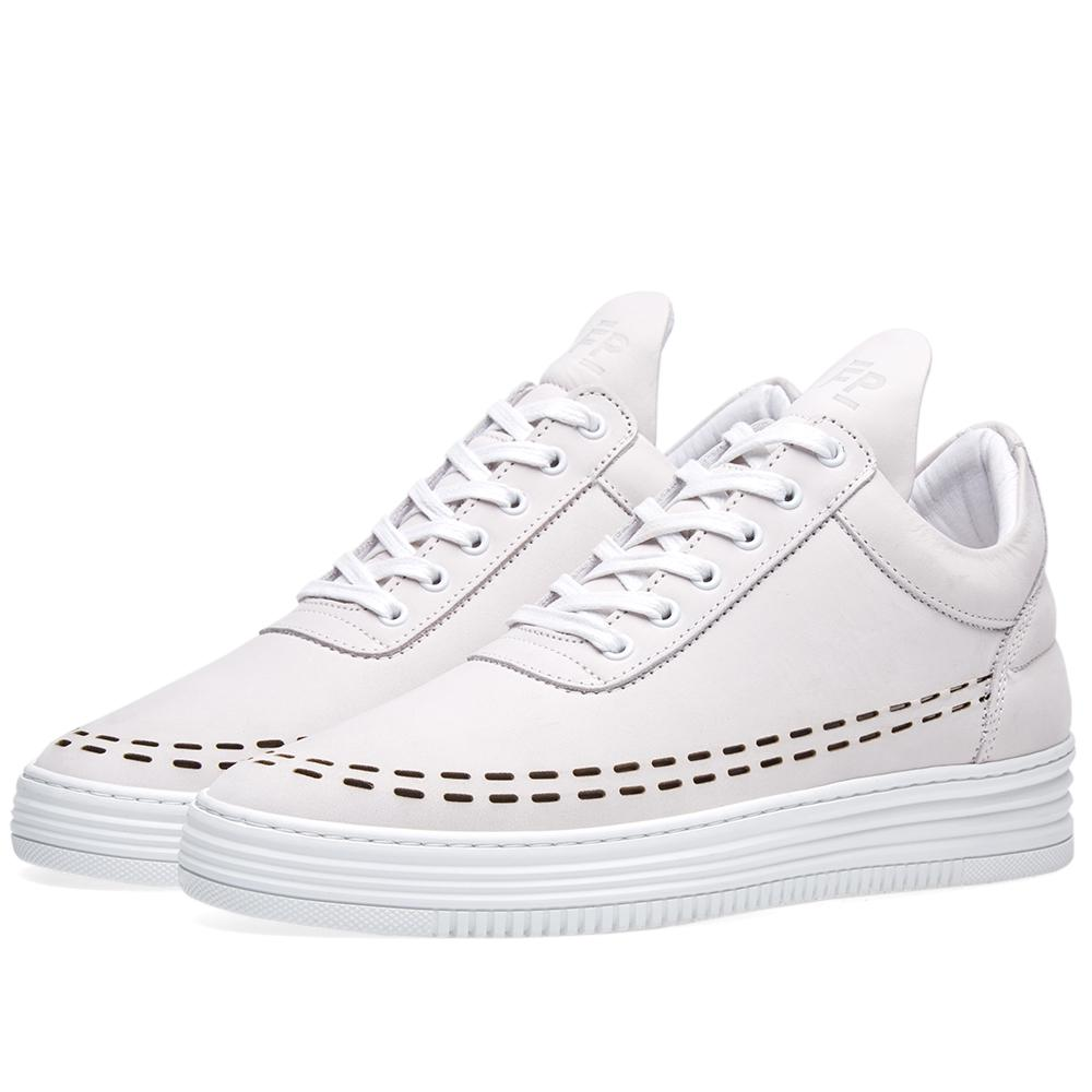 lyst filling pieces low top sneaker in white for men. Black Bedroom Furniture Sets. Home Design Ideas