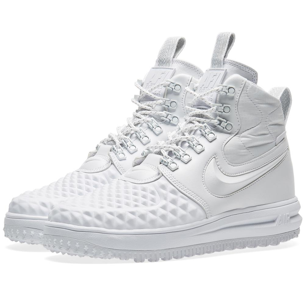 check out 76ee0 73c48 Lyst - Nike Lunar Force 1 Duckboot 17 Ibex in White for Men ...