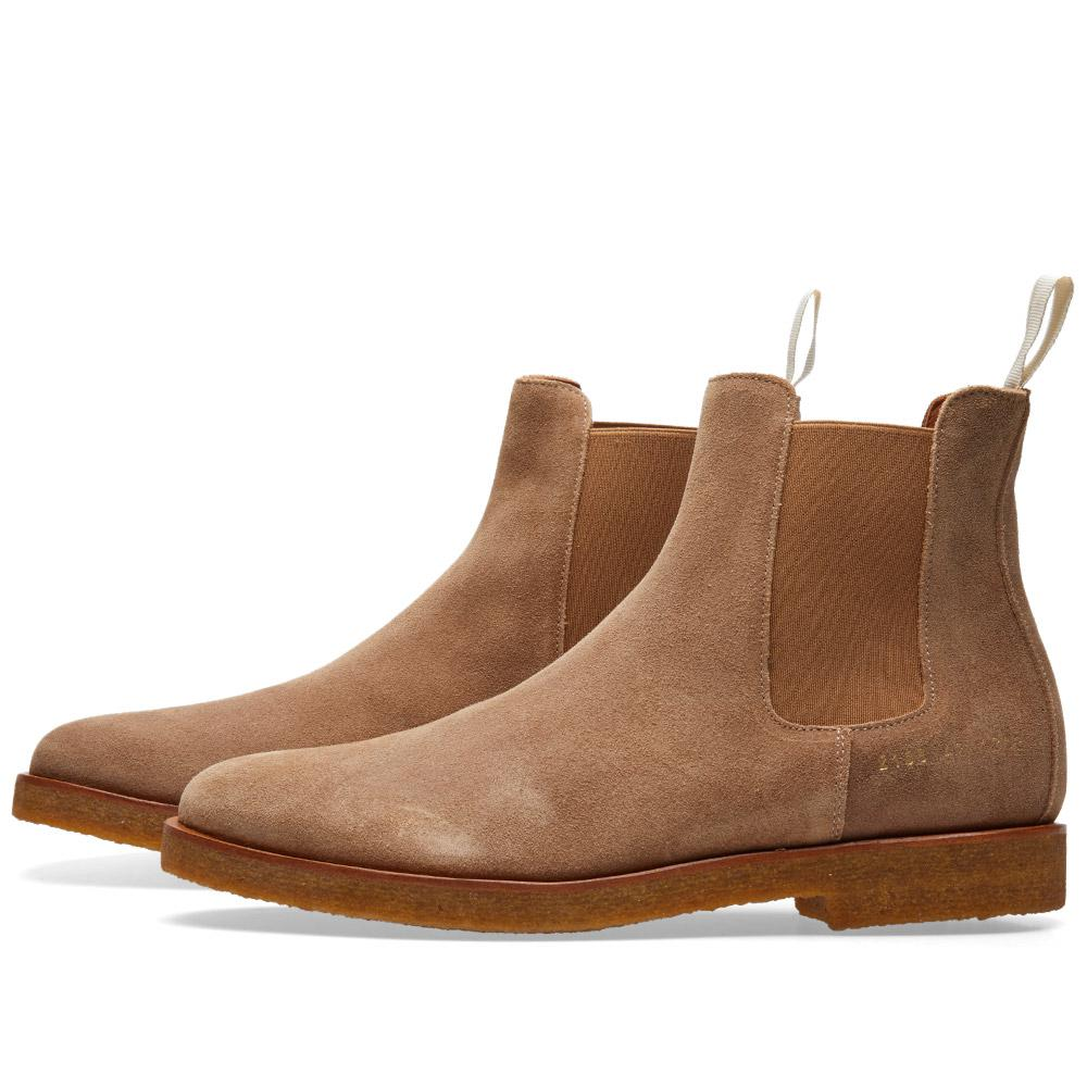 Common Projects Chelsea Boot Waxed Suede in Brown