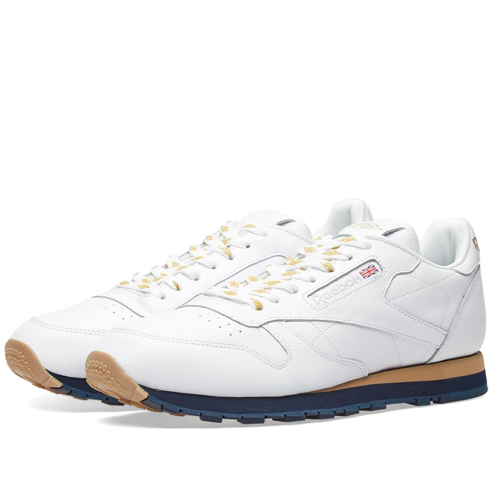 80d41fa99db75 Lyst - Reebok X Beams Classic Leather in White for Men