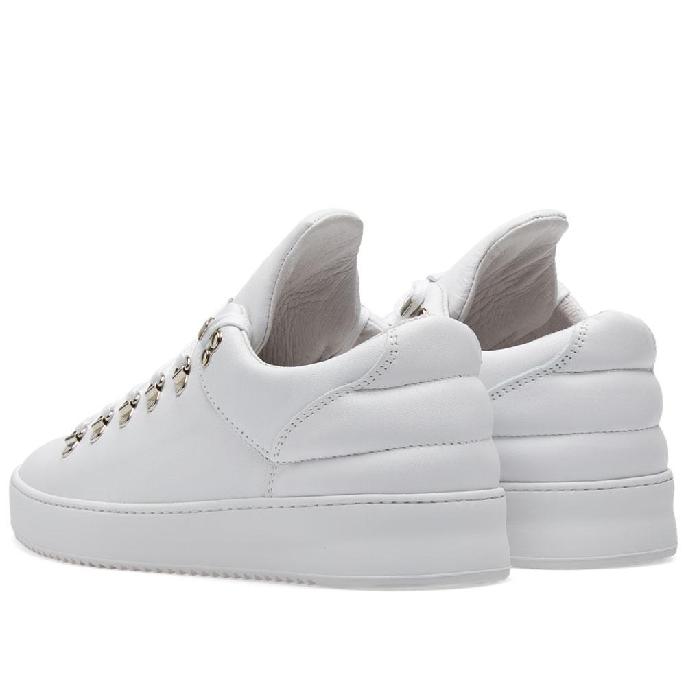 Filling Pieces Leather Mountain Cut Sneaker in White