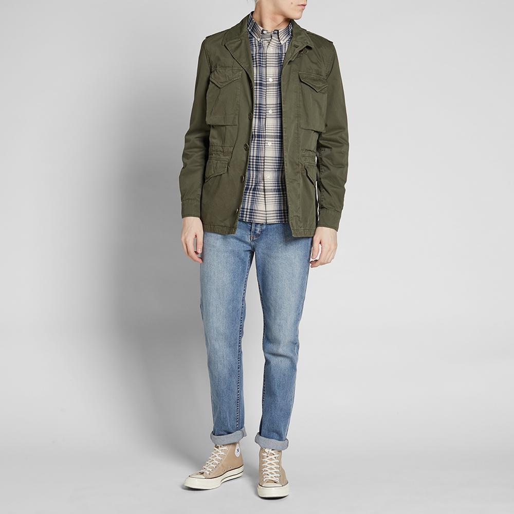 Aspesi Cotton M-43 Military Jacket in Green for Men