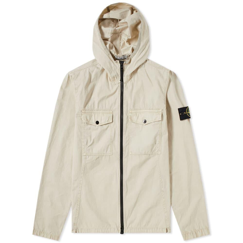 4a87ec6ac Stone Island Multicolor Garment Dyed Hooded Zip Shirt for men