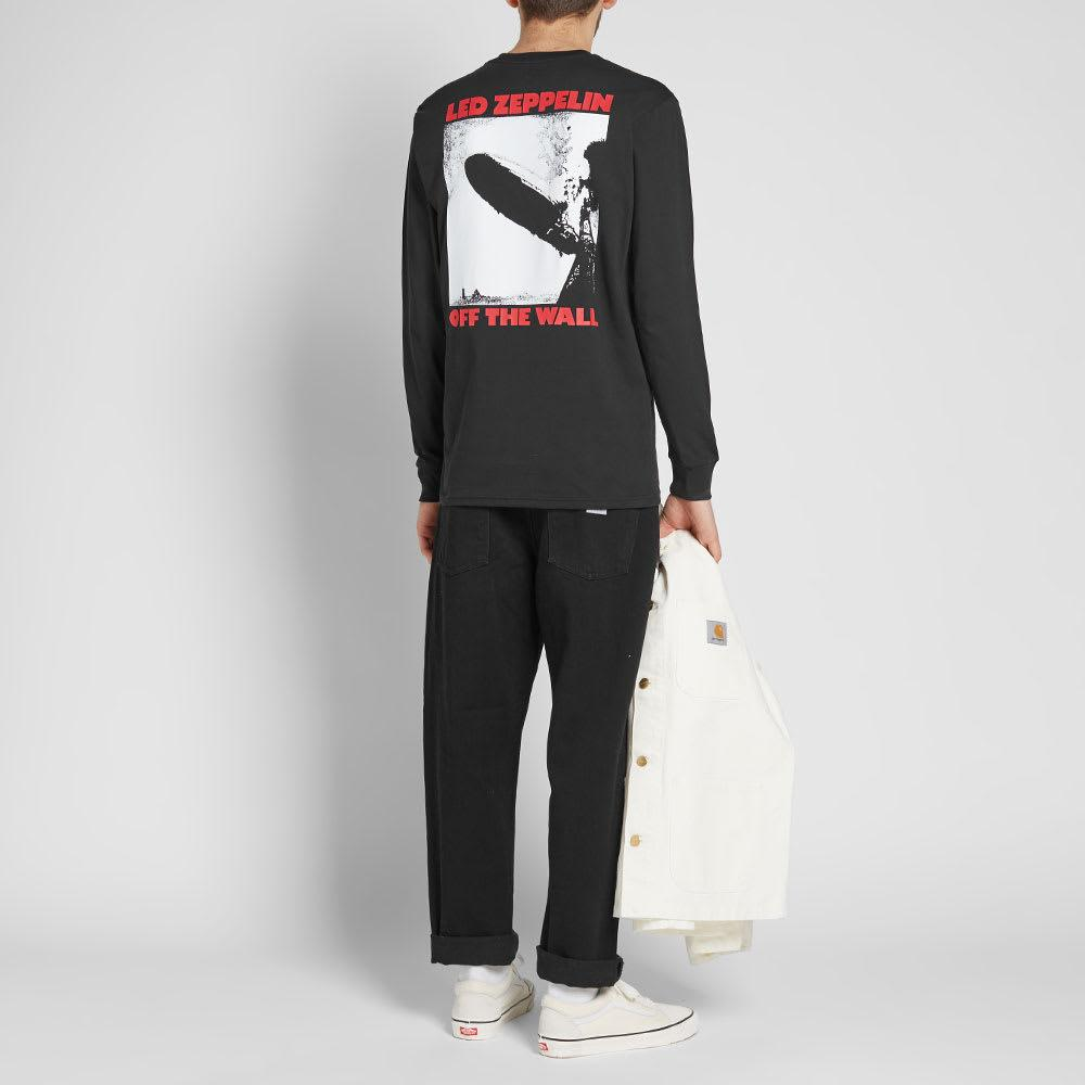 Vans Cotton X Led Zeppelin Long Sleeve Tee in Black for Men