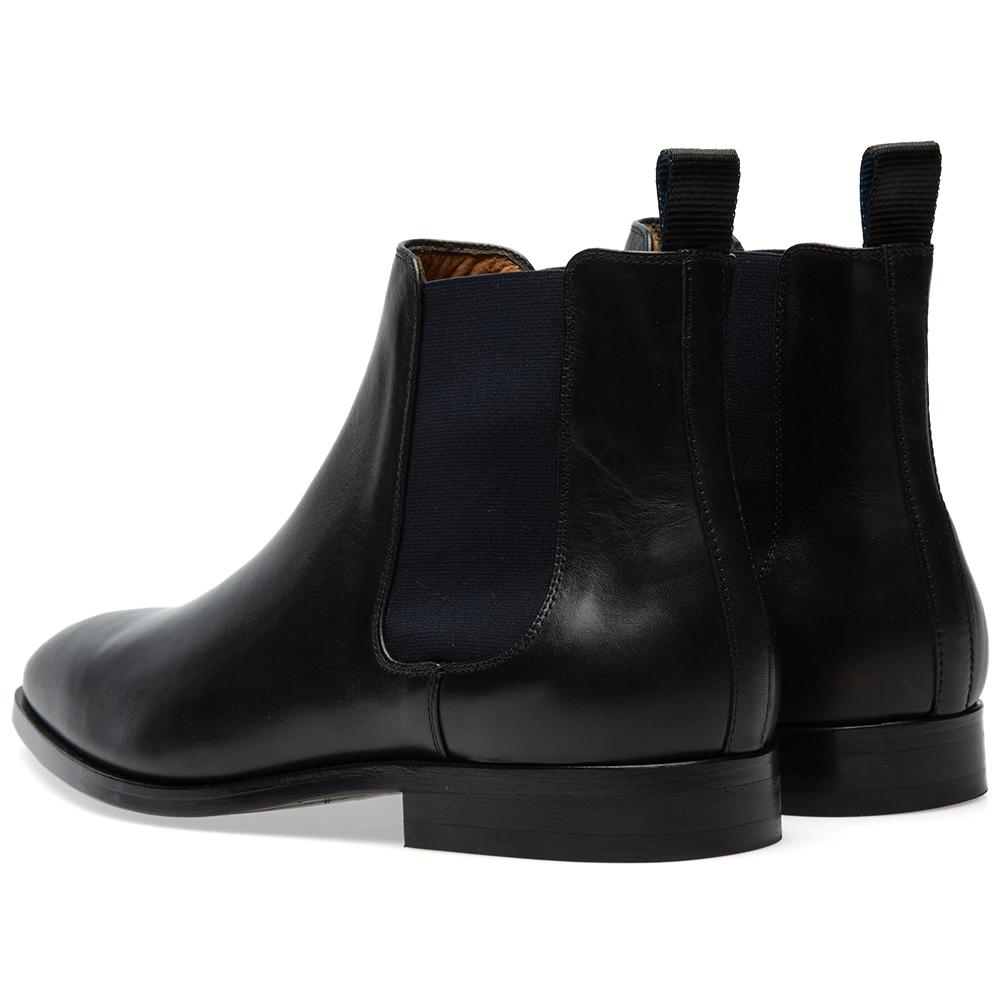 Paul Smith Leather Gerald Chelsea Boot in Black