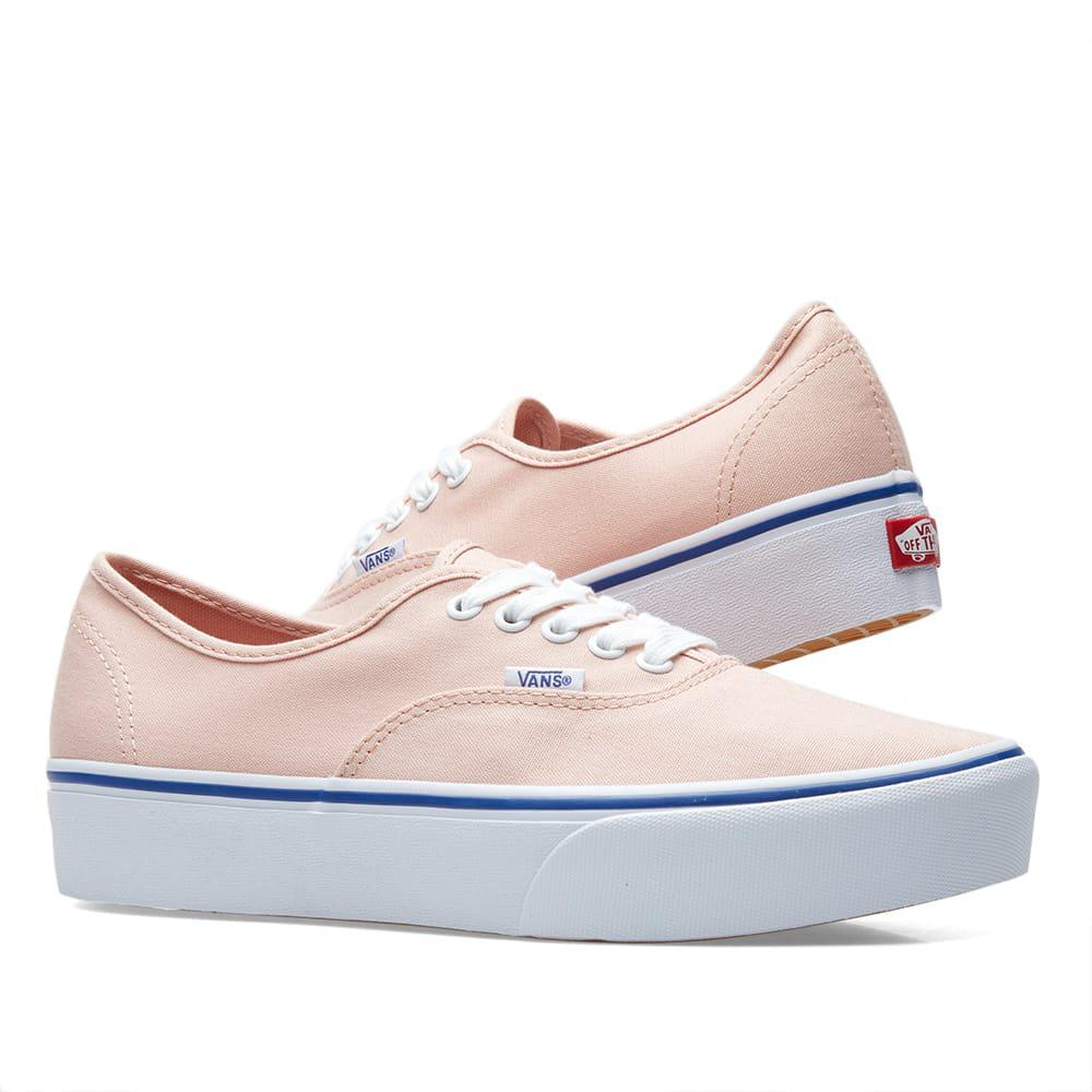 9a3c4c9c89 Lyst - Vans Authentic Platform 2.0 Women s Shoes (trainers) In Pink ...