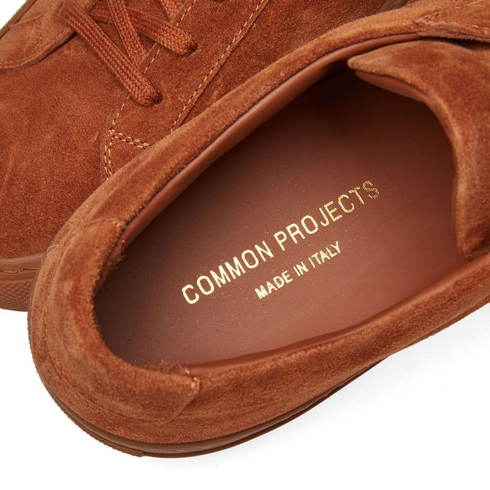 Common Projects Original Achilles Low Suede in Orange for Men