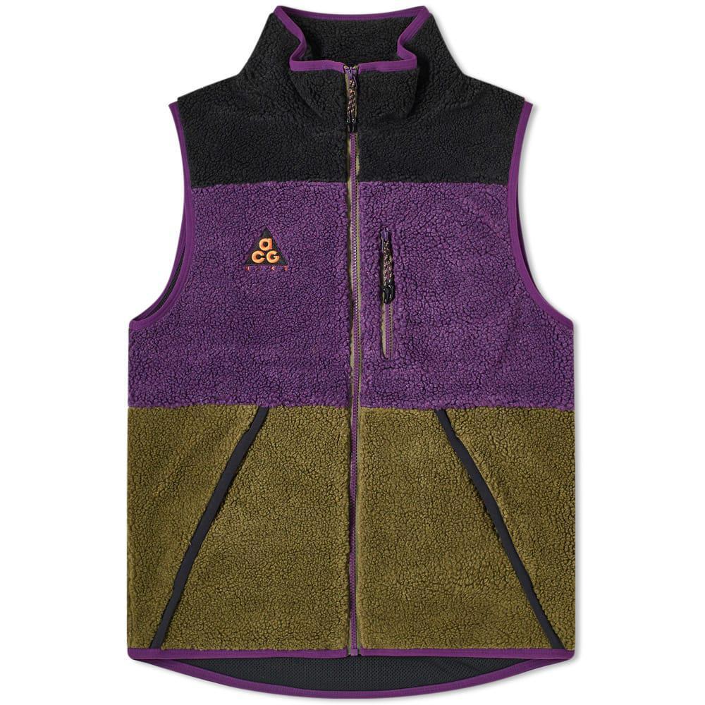 Ru Derrotado Cordero  Nike Synthetic Acg Logo-appliquéd Colour-block Fleece Gilet in ...