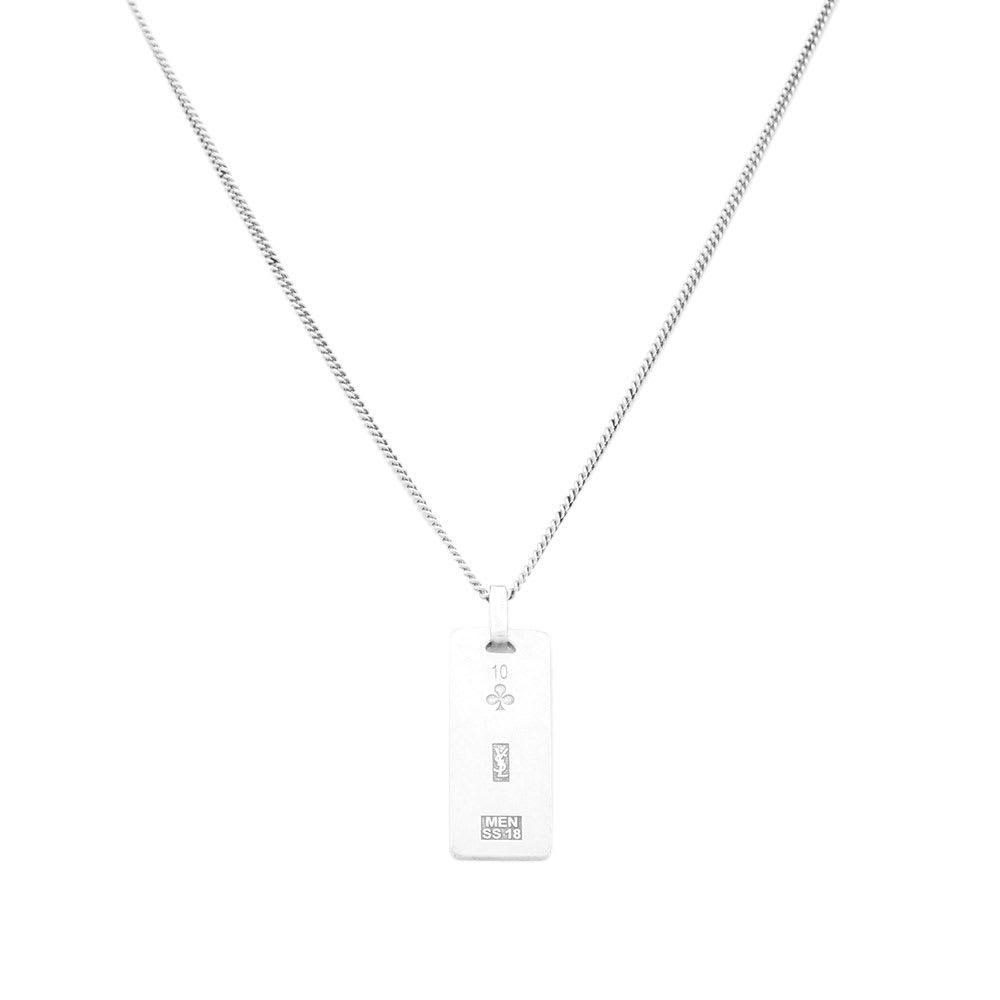 6f36dd6b2b Saint Laurent Metallic Ysl Plaque Pendant Necklace for men