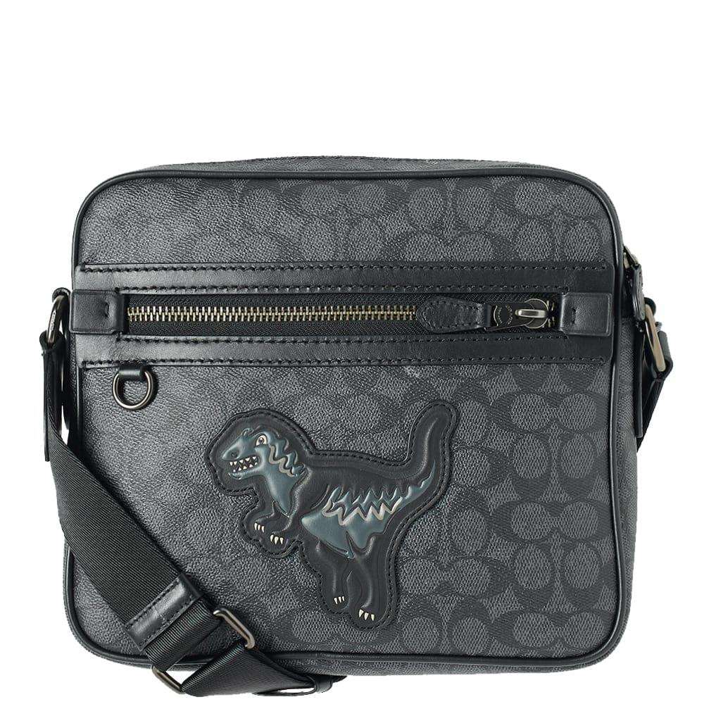 Lyst - COACH Rexy Signature Dylan Mini Messenger Bag in Black for Men 266bb4bace918