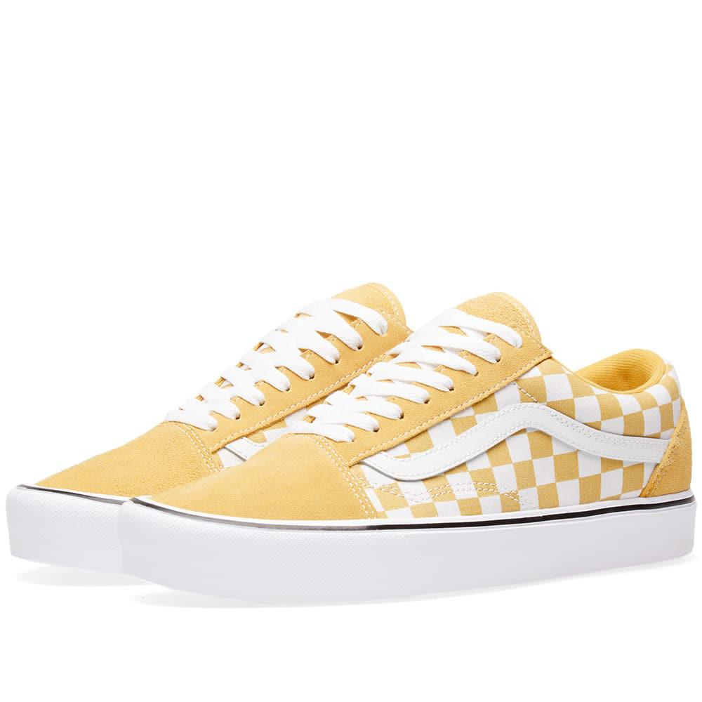f56e72c1b4 Lyst - Vans Old Skool Lite Checkerboard in Yellow for Men