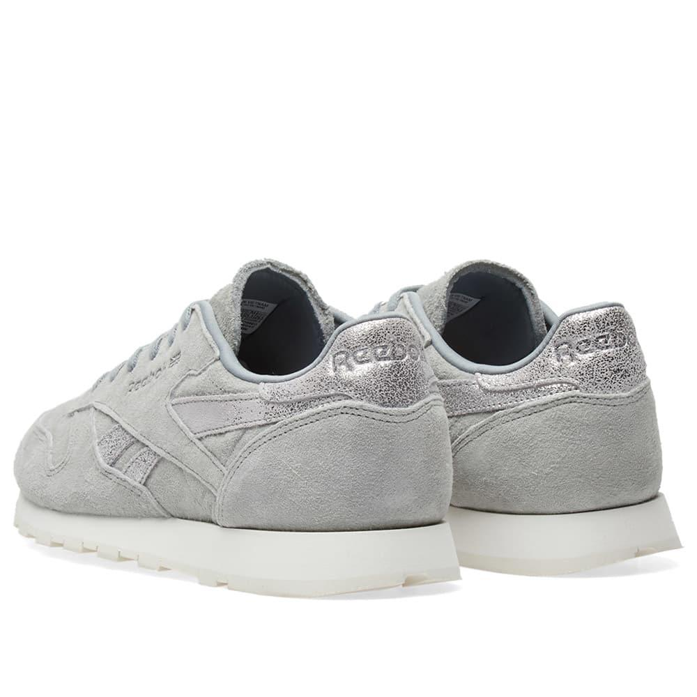 863d1321 Reebok Gray Classic Leather Shimmer W