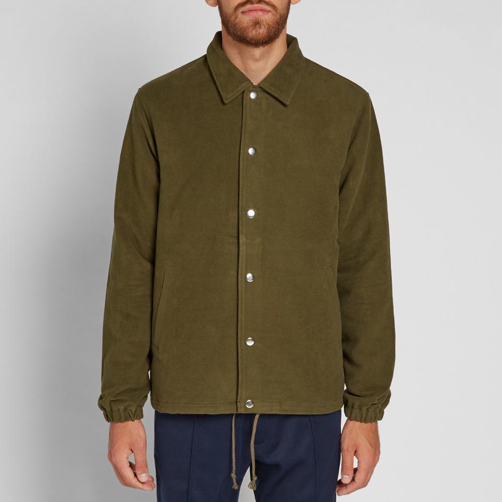 Tres Bien Cotton Moleskin Coach Jacket in Green for Men