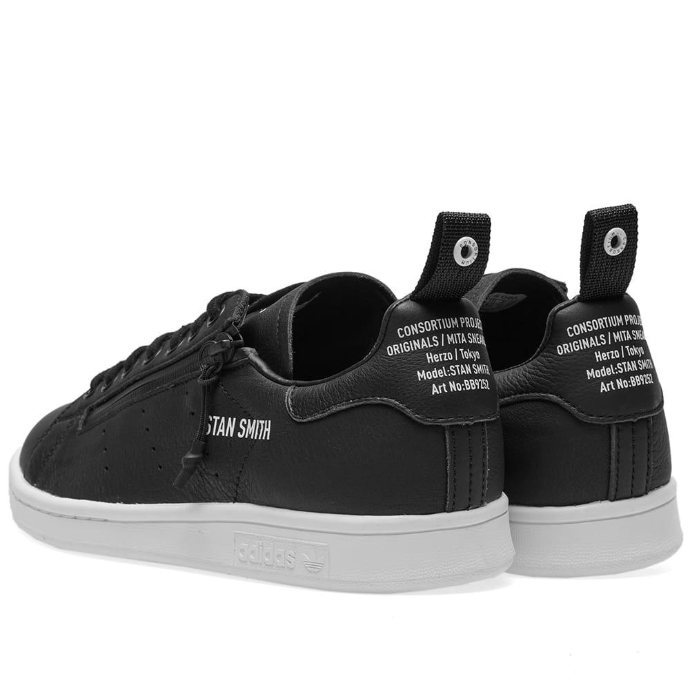 new cheap sold worldwide factory authentic adidas Leather Stan Smith Mita Shoes - Size 8 in Black/White ...