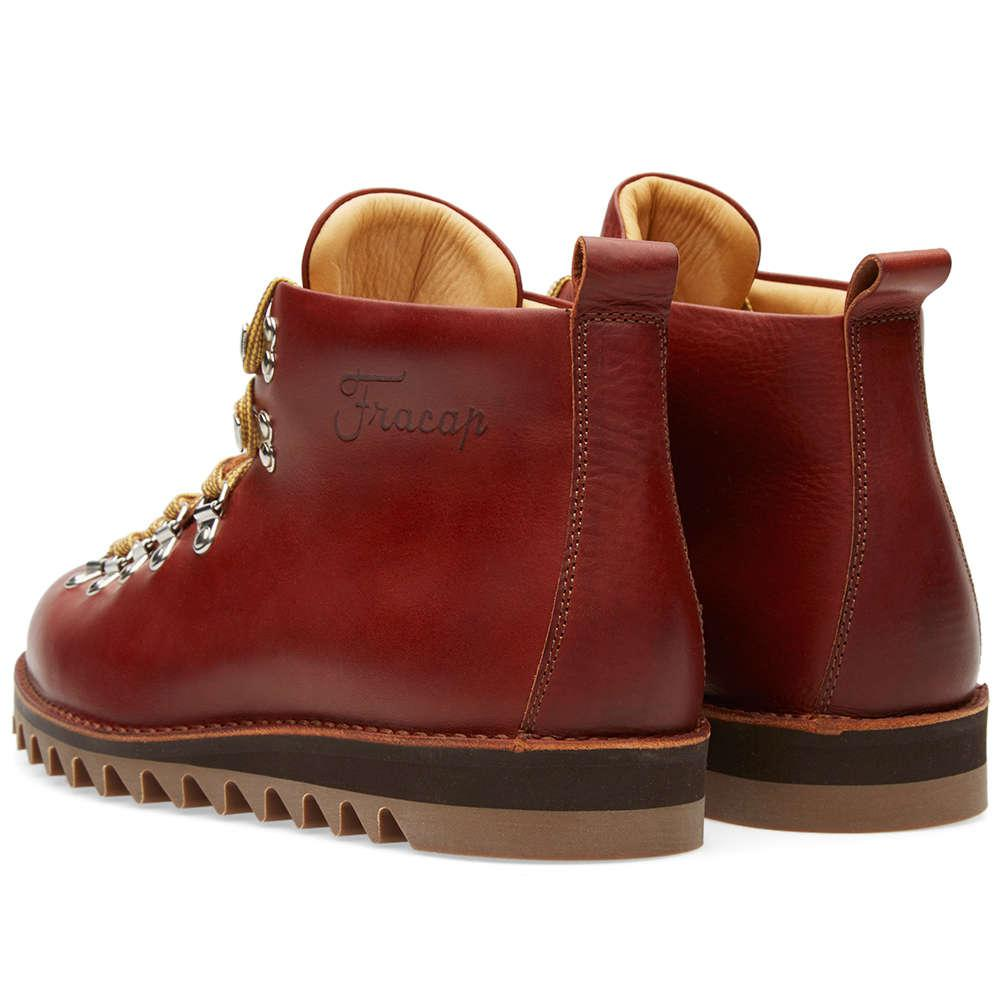 Fracap Leather M120 Ripple Sole Scarponcino Boot in Brown