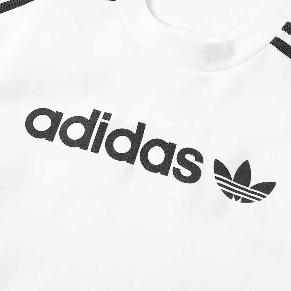 adidas Cotton Linear Crew in White for Men