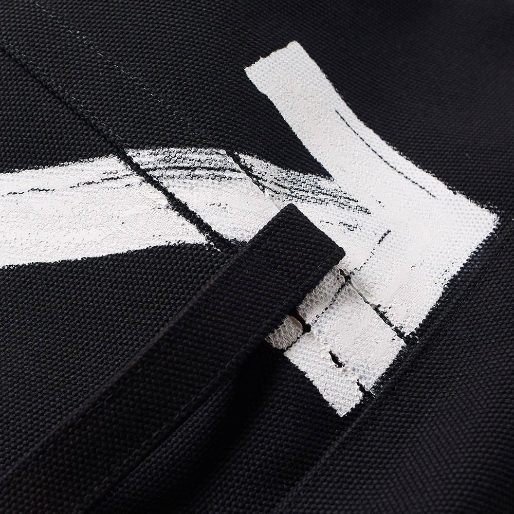 Off-White c/o Virgil Abloh Brushed Arrows Canvas Tote Bag in Black